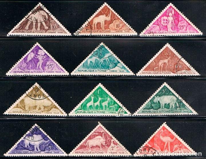 CHAD TASA 23/34, PINTURA PREHISTORICA,, USADO (SERIE COMPLETA) (Sellos - Extranjero - África - Chad)
