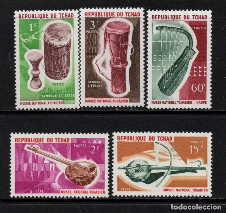 CHAD 114/18** - AÑO 1965 - MUSICA - - INSTRUMENTOS MUSICALES DEL MUSEO NACIONAL (Sellos - Extranjero - África - Chad)