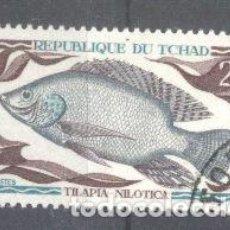 Sellos: TCHAD 1969 FISH, USED AE.185. Lote 198278577