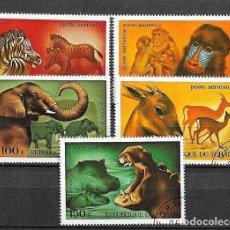 Sellos: CHAD,ANIMALES,YVERT 128-132,USADO. Lote 205238478