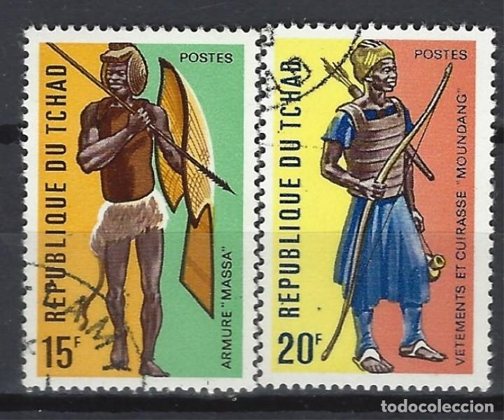 CHAD 1972 - GUERREROS CHADIANOS, S.COMPLETA - SELLOS USADOS (Sellos - Extranjero - África - Chad)