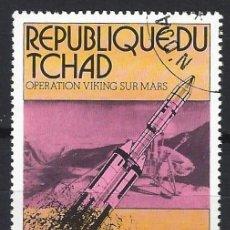 """Sellos: CHAD 1976 - OPERACIÓN """"VIKING"""" A MARTE - SELLO USADO. Lote 206174687"""