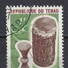 Timbres: CHAD 1965 - INSTRUMENTOS MUSICALES - SELLO USADO. Lote 209766651