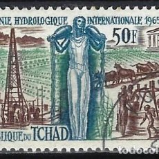 Francobolli: CHAD 1968 - DÉCADA HIDROLÓGICA INTERNACIONAL - USADO. Lote 215149898