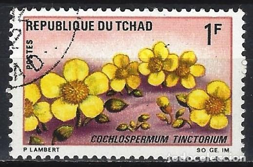 CHAD 1969 - FLORES, COCHLOSPERMUM TINCTORIUM - USADO (Sellos - Extranjero - África - Chad)