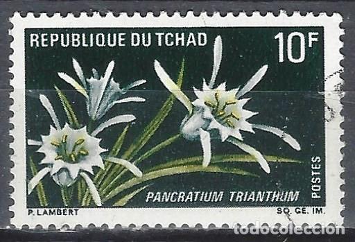 CHAD 1969 - FLORES, PANCRATIUM TRIANTHUM - USADO (Sellos - Extranjero - África - Chad)