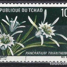 Francobolli: CHAD 1969 - FLORES, PANCRATIUM TRIANTHUM - USADO. Lote 215150191