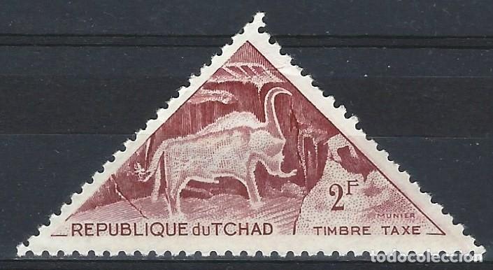 CHAD 1962 - SELLO DE TAXA, PINTURA RUPESTRE DE TIBESTI - MH* (Sellos - Extranjero - África - Chad)