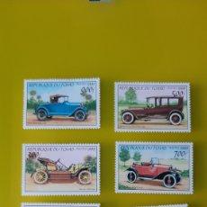Sellos: AUTOMÓVILES TRASPARENTES TCHAD SERIE COMPLETA NUEVA 1999 YVERT 1155/60 FILATELIA COLISEVM. Lote 224143930