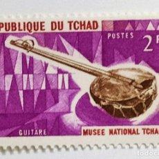 Sellos: SELLO DE CHAD 2 F. - 1965 - GUITARRA - NUEVO SIN SEÑAL DE FIJASELLOS. Lote 237855255
