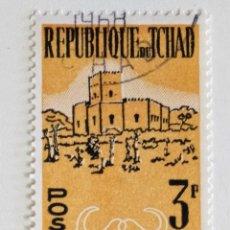Sellos: SELLO DE CHAD 3 F. - 1962 - BUFALO - USADO SIN SEÑAL DE FIJASELLOS. Lote 247394540