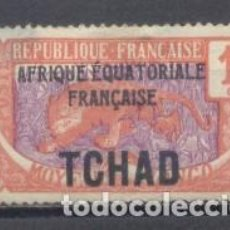 Sellos: TCHAD, AFRICA EQUATORIAL FRANCESA, 1922, YVERT TELLIER 1,USADO. Lote 259331050