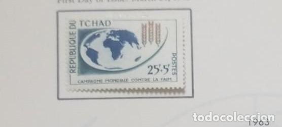 O) 1963 CHAD, LIBERTAD DEL HAMBRE, SCT B2 XF (Sellos - Extranjero - África - Chad)