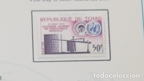 O) 1964 CHAD, METEOROLOGICAL, BAROGRAPH Y WMO, SCT 100 XF (Sellos - Extranjero - África - Chad)