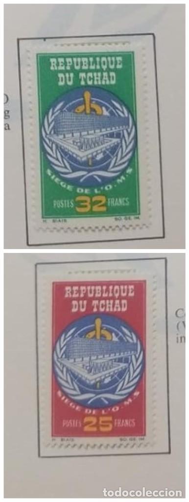 O) 1966 CHAD, SEDE DE LA OMS EN GINEBRA, SCT 126-127 XF (Sellos - Extranjero - África - Chad)