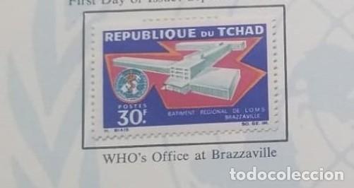 O) 1967 CHAD, WHO HEADQUARTERS, BRAZZAVILLE, SCT 143 XF (Sellos - Extranjero - África - Chad)