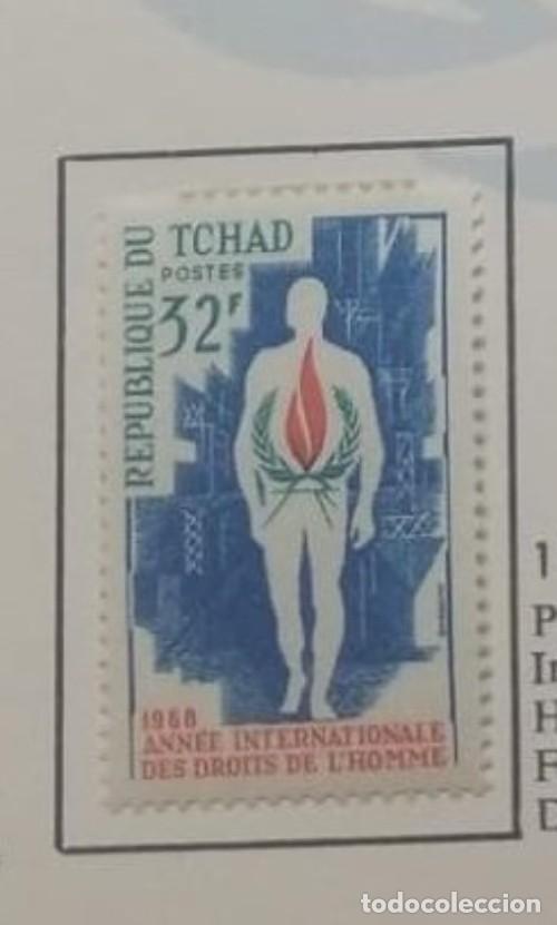 O) 1968 CHAD, MAND Y DERECHOS HUMANOS, LLAMA, SCT 167 XF (Sellos - Extranjero - África - Chad)