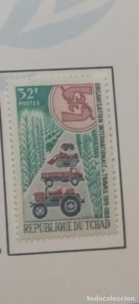 O) 1969 CHAD, TRACTORES Y CAMIONES, ANIVERSARIO DE LA OIT, SCT 180 XF (Sellos - Extranjero - África - Chad)