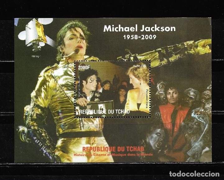"TCHAD 2009, HOJA BLOQUE MICHAEL JAKSON "" HISTORIA DEL CINEMA "" MNH. (Sellos - Extranjero - África - Chad)"