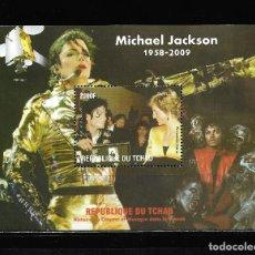 "Sellos: TCHAD 2009, HOJA BLOQUE MICHAEL JAKSON "" HISTORIA DEL CINEMA "" MNH.. Lote 288001503"