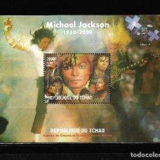 "Sellos: TCHAD 2009, HOJA BLOQUE MICHAEL JAKSON "" HISTORIA DEL CINEMA "" MNH.. Lote 288002428"