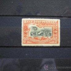 Sellos: CONGO BELGA-CONGO BELGE,1894-1900,ETAT INDEPENDANT,IVERT Nº 27,NUEVO CON GOMA Y SEÑAL FIJASELLOS(MH). Lote 17826816