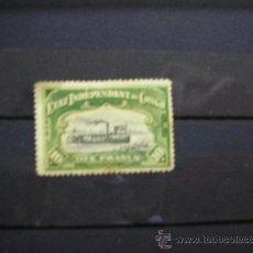 Sellos: CONGO BELGA-CONGO BELGE,1894-1900,ETAT INDEPENDANT,IVERT Nº 29,NUEVO CON GOMA Y SEÑAL FIJASELLOS(MH). Lote 17826834