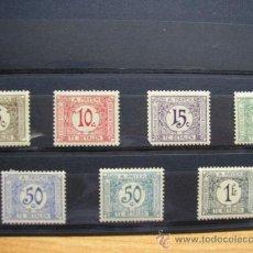 Sellos: CONGO BELGA-CONGO BELGE,1923-29,TASAS,IVERT 66-72,COMPLETA,NUEVOS CON GOMA Y SEÑAL FIJASELLOS. Lote 17827541