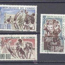 Sellos: REPUBLICA DEL CONGO-1966- DEPORTES-YVERT TELLIER 190-192-193-NUEVOS. Lote 21982913