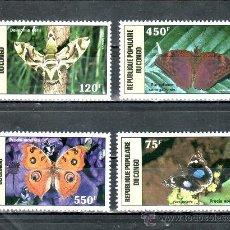 Sellos: CONGO A 371/4 SIN CHARNELA, FAUNA, MARIPOSAS, . Lote 25798813
