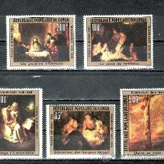 Sellos: CONGO A 273/9 SIN CHARNELA, PINTURA DE REMBRANDT, . Lote 25799003