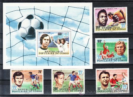 CONGO 486/90, HB 15 SIN CHARNELA, DEPORTE, ARGENTINA 78, COPA DEL MUNDO DE FUTBOL (Sellos - Extranjero - África - Congo)