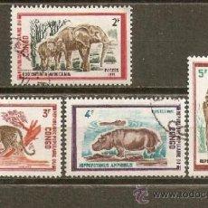 Sellos: REPUBLICA POPULAR DEL CONGO YVERT NUM. 319/22 USADOS ANIMALES SALVAJES. Lote 38597461