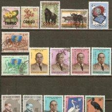Sellos: REPUBLICA DEMOCRATICA DEL CONGO CONJUNTO DE SELLOS USADOS DIFERENTES. Lote 38612512