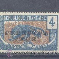 Sellos: MOYEN-CONGO (AFRIQUE EQUATORIALE FRANÇAISE) 1924, YVERT TELLIER 74. Lote 39338618