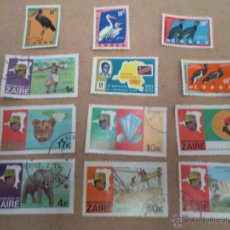 Sellos: CONGO. ZAIRE. 12 SELLOS.. Lote 41241344