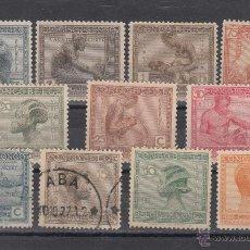 Sellos: CONGO BELGA 106/16 SIN GOMA, ARTESANIAS E INDUSTRIAS INDIGENAS,. Lote 43757272