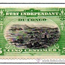 Sellos: CONGO BELGA. SELLO DEL AÑO 1894/1901. EN NUEVO CON SEÑAL DE FIJASELLOS. Lote 46150082