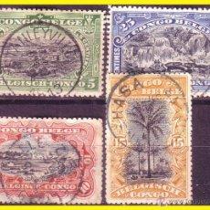Timbres: CONGO BELGA 1910 IVERT Nº 54 A 57 (O). Lote 48741820
