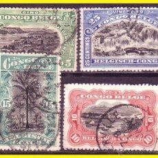 Timbres: CONGO BELGA 1915 IVERT Nº 64 A 67 (O). Lote 48741848