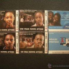 Sellos: CONGO 2005 IVERT 1616/21 *** CAMPAÑA DE LUCHA CONTRA EL SIDA. Lote 54678281