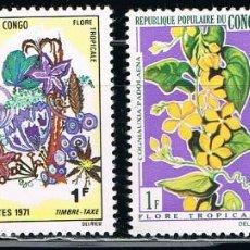Sellos: CONGO - LOTE DE 4 SELLOS - FLORES (USADO) LOTE 4. Lote 106596747