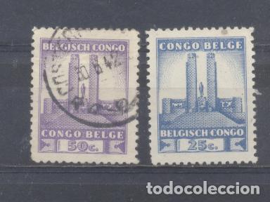CONGO BELGA, UNO NUEVO OTRO USADO (Sellos - Extranjero - África - Congo)