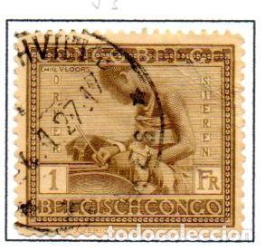 CONGO BELGA.- SELLO DE SERIE DEL AÑO 1923-27, EN USADO (Sellos - Extranjero - África - Congo)