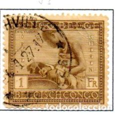 Sellos: CONGO BELGA.- SELLO DE SERIE DEL AÑO 1923-27, EN USADO. Lote 114039883