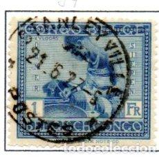 Sellos: CONGO BELGA.- SELLO DE SERIE DEL AÑO 1923-27, EN USADO. Lote 114039903
