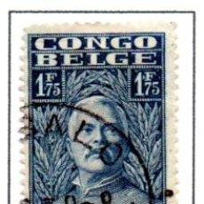 Sellos: CONGO BELGA.- SELLO DE SERIE DEL AÑO 1928, EN USADO. Lote 114040527