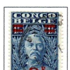 Timbres: CONGO BELGA.- 1931.- SELLO DE LA SERIE DEL AÑO 1928, SOBRECARGADO, EN USADO. Lote 114041063