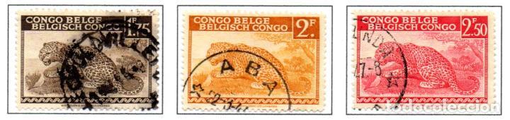 CONGO BELGA.- SELLOS DE 1942, EN USADOS (Sellos - Extranjero - África - Congo)