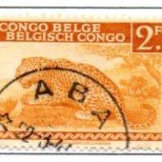 Sellos: CONGO BELGA.- SELLOS DE 1942, EN USADOS. Lote 114062719